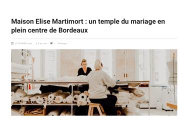 Elise Martimort, créatrice de robes de mariée sur mesure