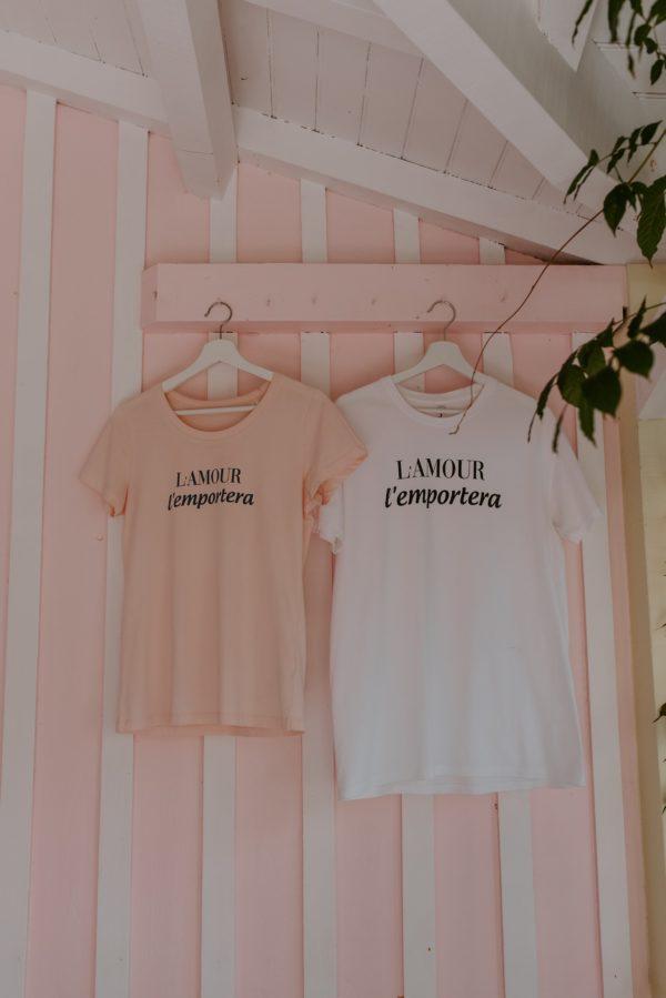 Prêt a porter T-shirt L'Amour l'emportera Duodem E-shop Elise Martimort