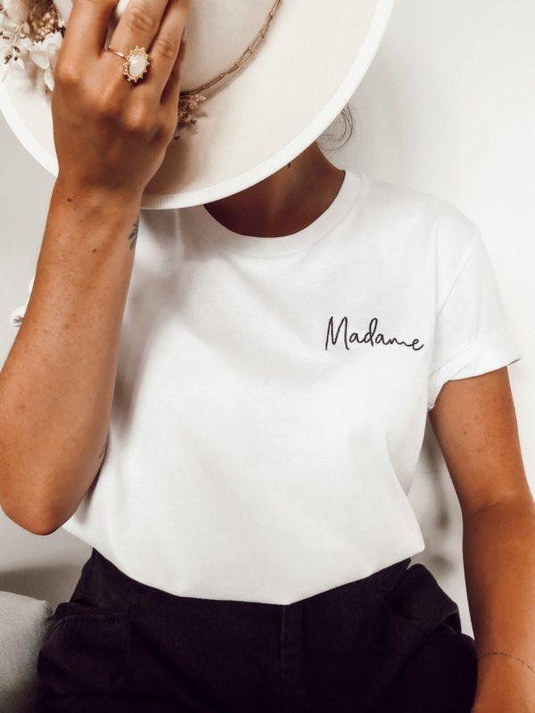 Prêt a porter T-shirt brodé Madame Duodem E-shop Elise Martimort