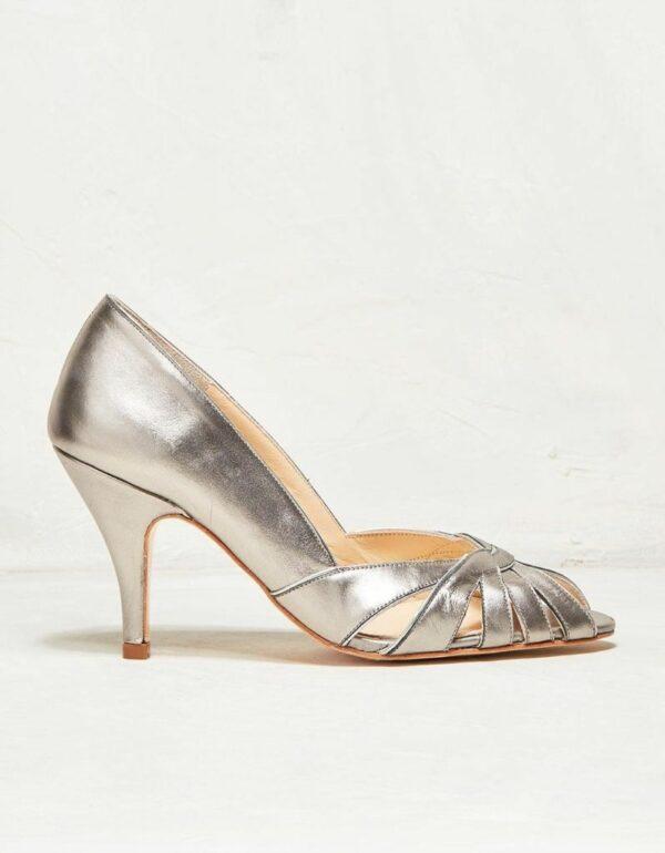 Rachel Simpson chaussures de mariee floriane pewter leather chaussures mariage Elise Martimort