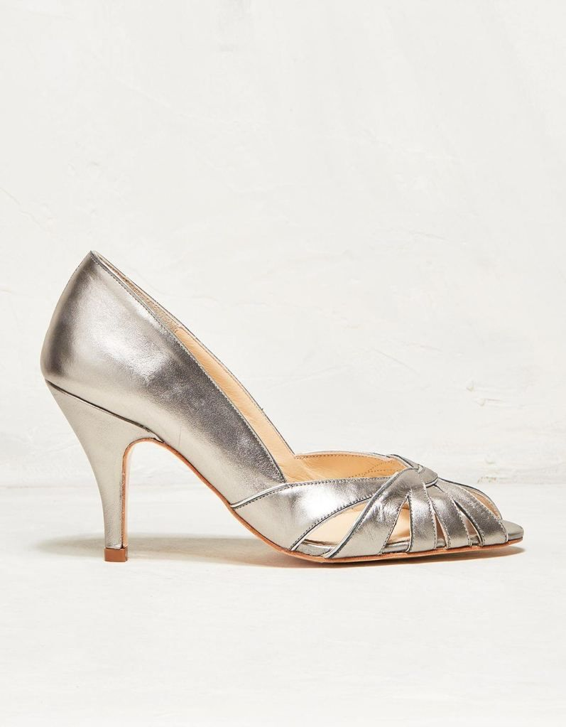 Rachel Simpson chaussures de mariee floriane pewter leather chaussures mariage Elise Martimort
