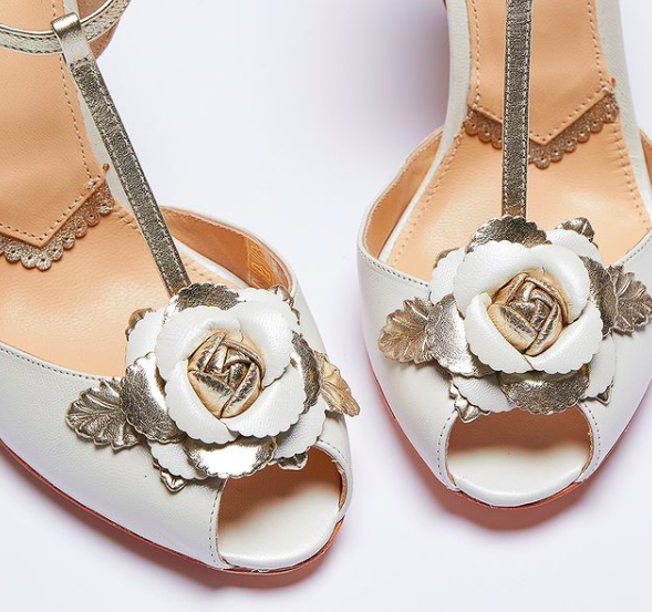 Rachel Simpson chaussures de mariee gabriella pearlised ivory leather chaussures mariage Elise Martimort