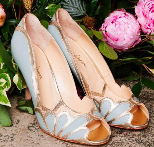Rachel Simpson chaussures de mariee isabelle mint leather chaussures mariage Elise Martimort