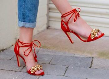 Rachel Simpson chaussures de mariee Venetia rouge chaussures chaussures d'été femme mariage vintage Elise Martimort