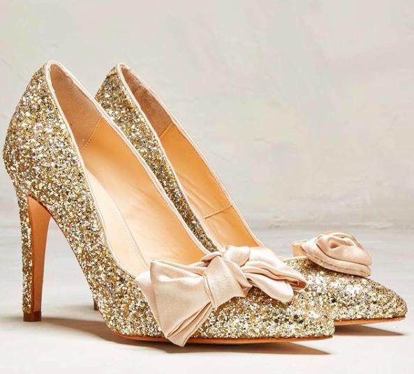 Rachel Simpson chaussures de mariee doree chaussures mariage chaussure vintage