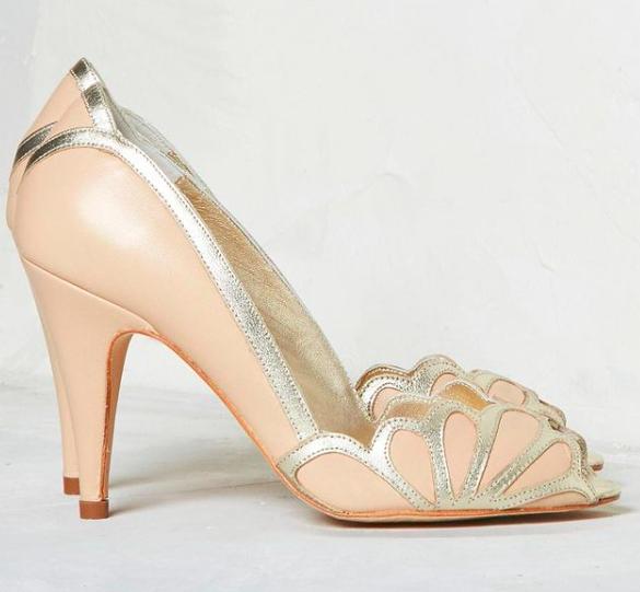 Rachel Simpson chaussures de mariee isabelle nude chaussures soirée femme mariage vintage Elise Martimort