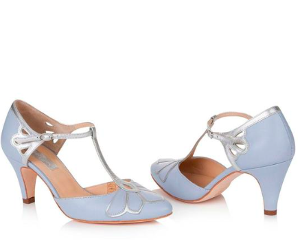 Rachel Simpson chaussures de mariee mimosa blue chaussures mariage Elise Martimort