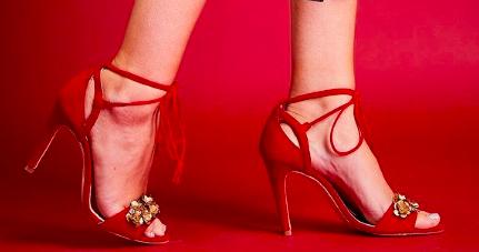 Rachel Simpson chaussures de mariee Venetia rouge chaussures mariage vintage Elise Martimort