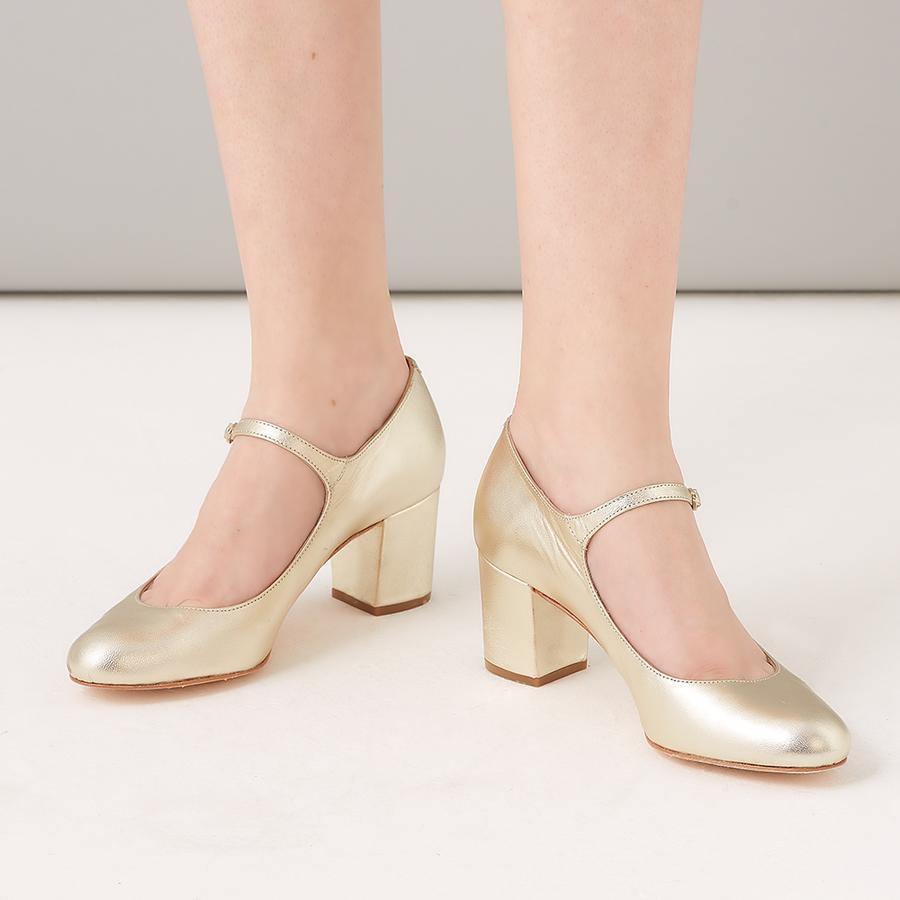 Rachel Simpson chaussures de mariee chaussures mariage chloe gold leather Elise Martimort