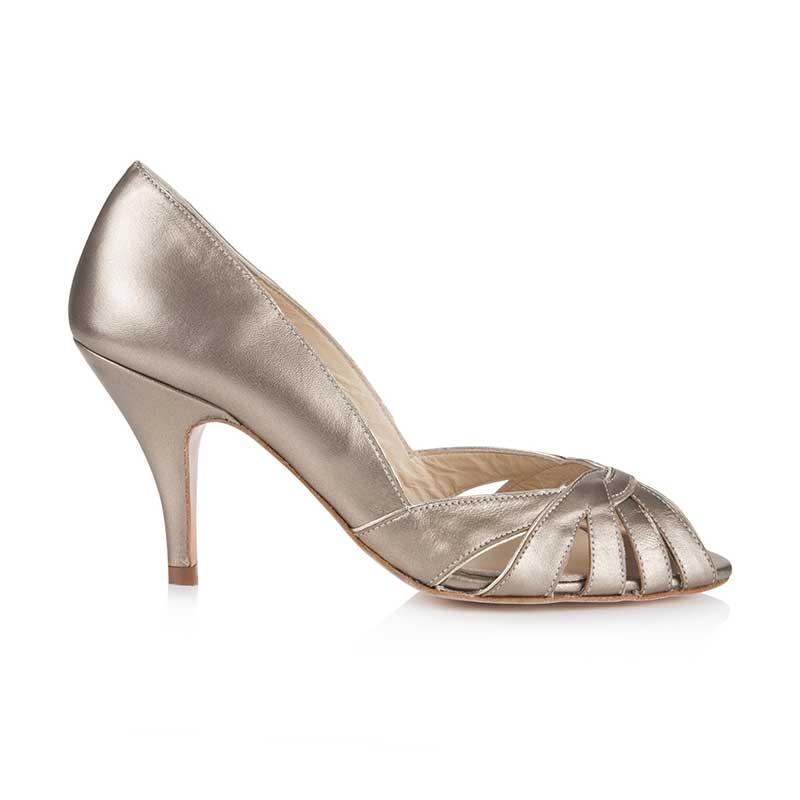 Rachel Simpson chaussures de mariee floriana bronze leather chaussures mariage Elise Martimort