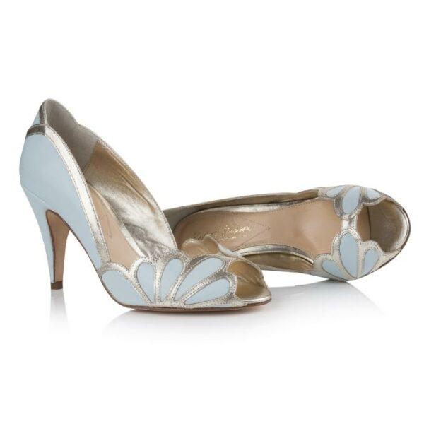 Rachel Simpson chaussures de mariee isabelle ice blue chaussures mariage Elise Martimort