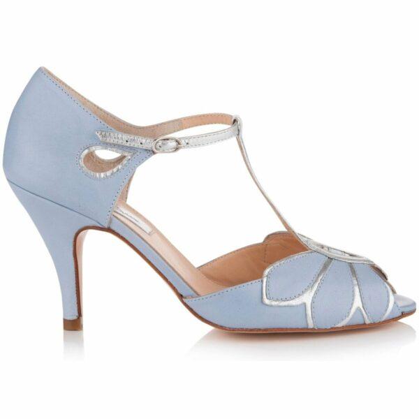 Rachel Simpson chaussures de mariee mimosa blue chaussures mariage Elise Martimort chaussures confort femme