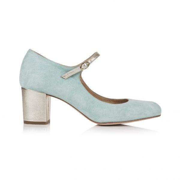 Rachel Simpson chaussures de mariee chloe mint suede chaussures mariage Elise Martimort