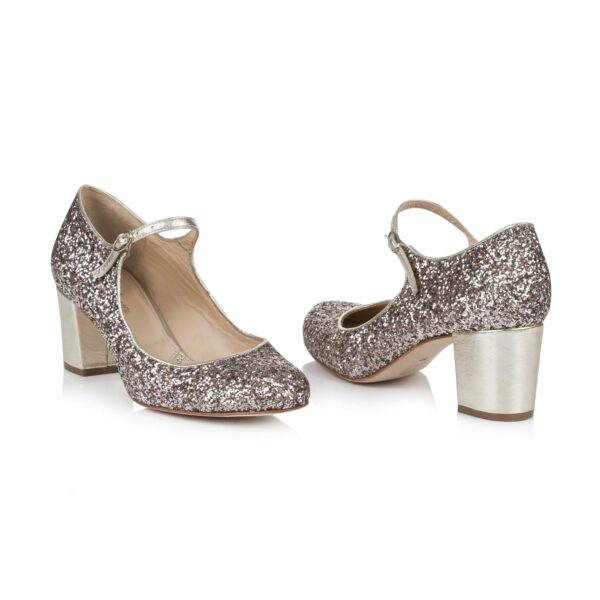 Rachel Simpson chaussures de mariee chloe quartz glitter chaussures mariage Elise Martimort