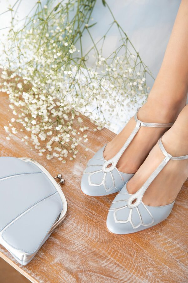 Rachel Simpson chaussures de mariee gardenia blue chaussures mariage vintage Elise Martimort