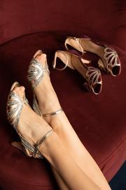 Rachel Simpson chaussures de mariee giselle platinium glitter chaussures mariage Elise Martimort