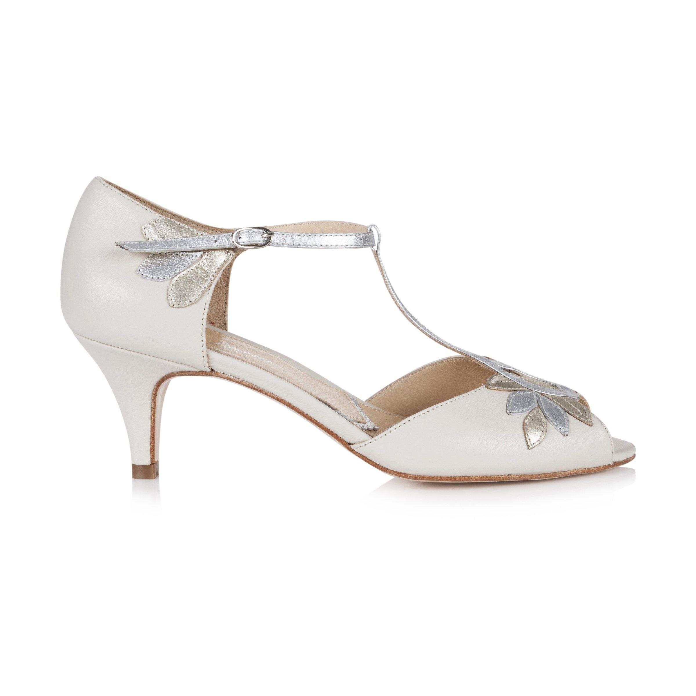 Rachel Simpson chaussures de mariee isla ivory mixed metallic chaussures mariage Elise Martimort