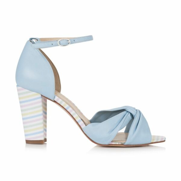 Rachel Simpson chaussures de mariee candyfloss blue baby leather chaussures mariage Elise Martimort