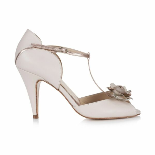 Rachel Simpson chaussures de mariee gabriella blush ivory leather chaussures mariage Elise Martimort