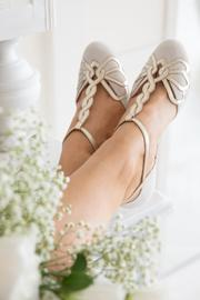 Rachel Simpson chaussures de mariee rosita ivory suede chaussures mariage Elise Martimort