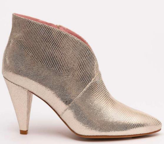 Chaussures à talon Octavia cuir doré coralie masson elise martimort