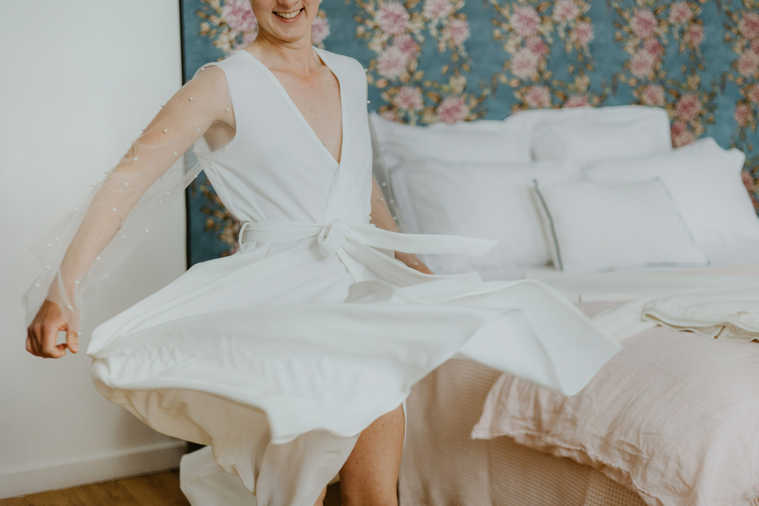 Kimono Saana mariage Elise Martimort shooting robes de mariee civiles Jade Sequeval