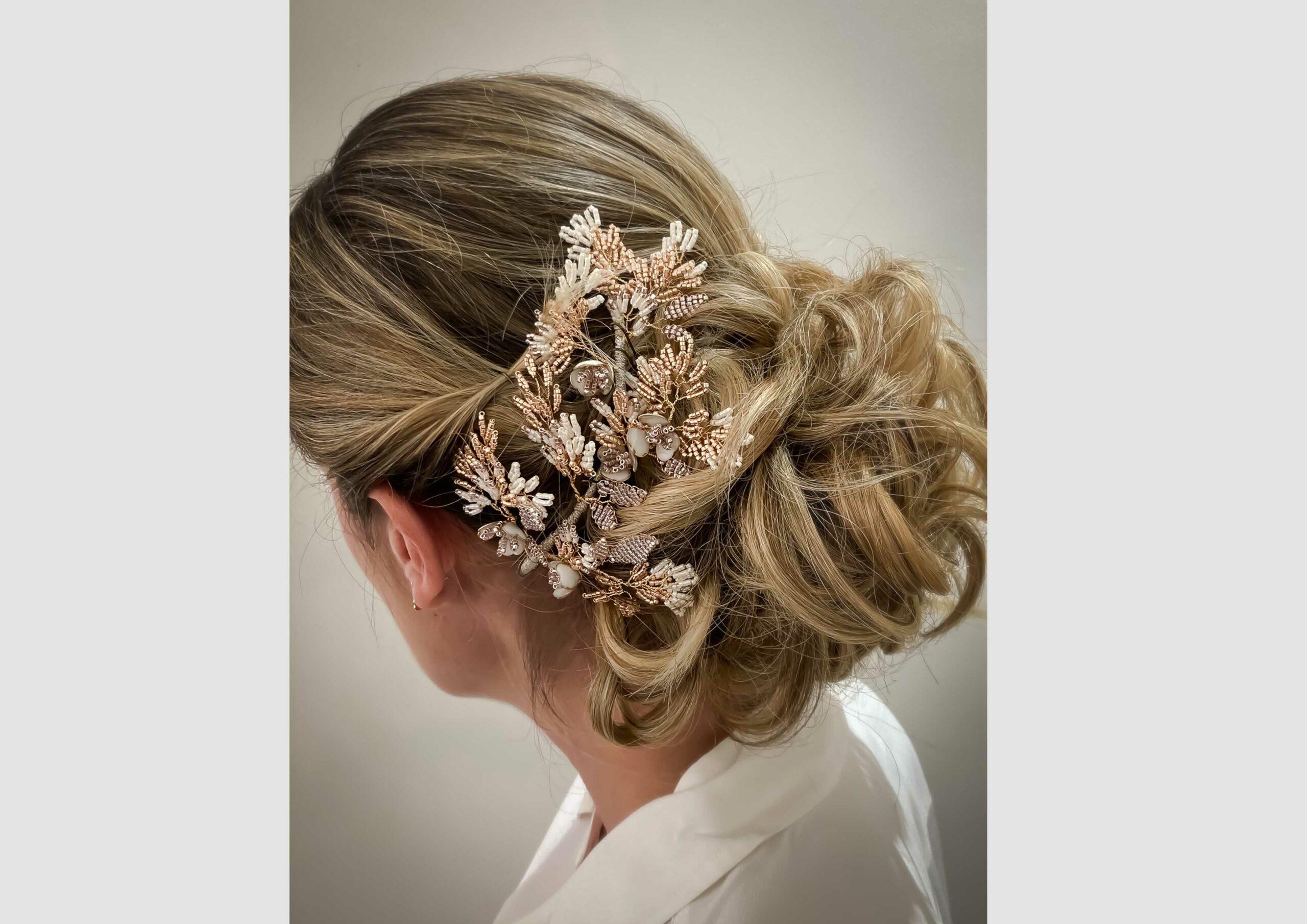 Couronne Kenza Blush les majestés accessoire cheveux mariage bijou mariee