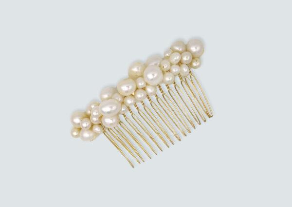 Les Majestés bijoux de tête mariee peigne white pearls accessoire eshop elise martimort