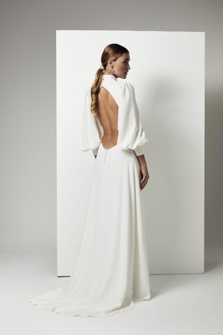 robe de mariée en crepe de soie